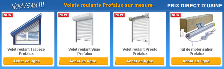 EASYVOLETS : + de 250 pièces Profalux - Franciaflex - France Fermetures - M4Group - V2 - Eveno ...